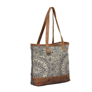 Objet d'art Leather Strip Tote