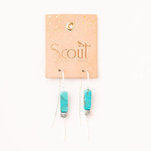 Rectangle Howlite (Harmony) Stone Earrings