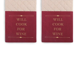 Cook for Wine - Double Oven Mitt