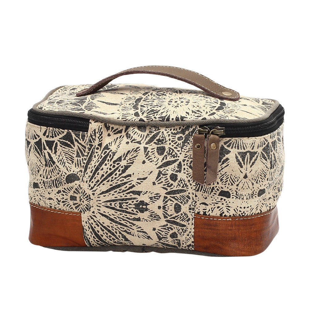 Flower Design Toiletry Bag