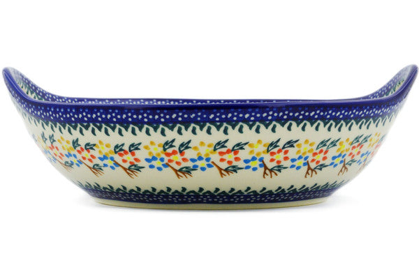 "Spring Flowers 10"" Bowl with Handles"