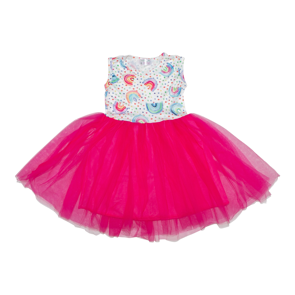 Rainbow Dot Tank Tutu Dress