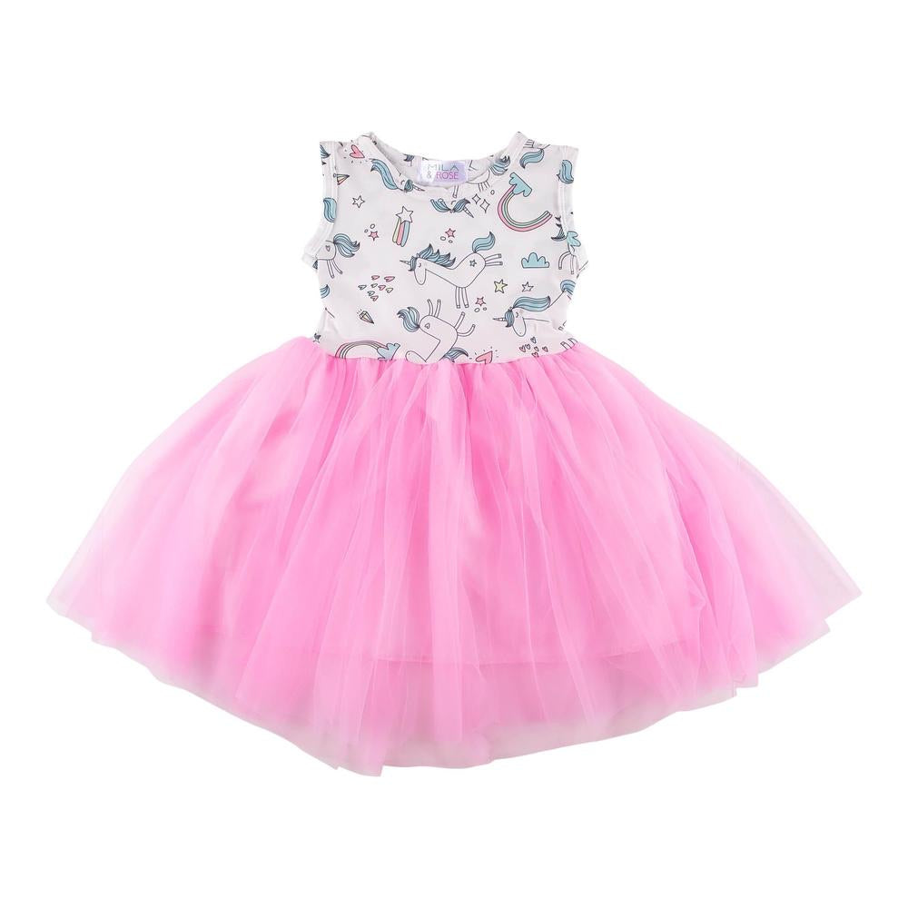 Unicorn Rainbow Tank Tutu Dress