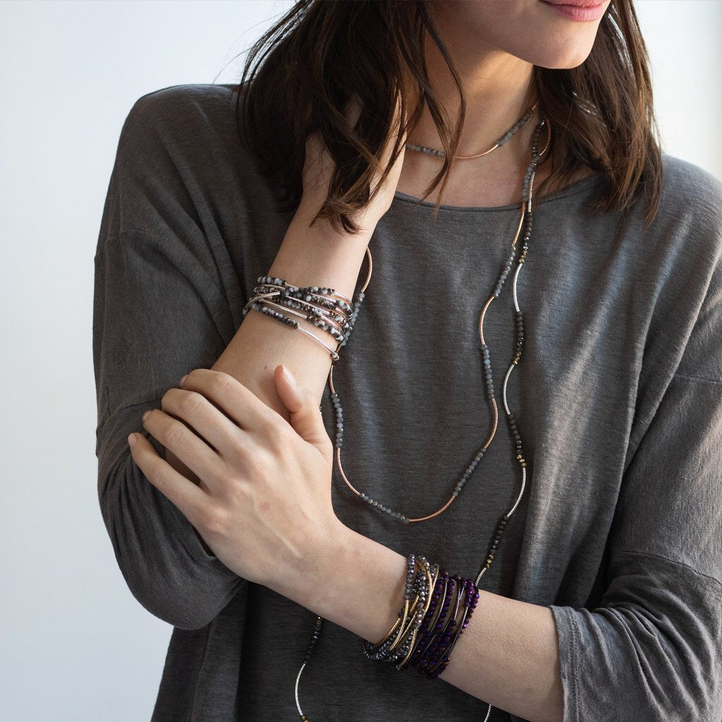 You are Capable Wrap : Dhalia Hematite