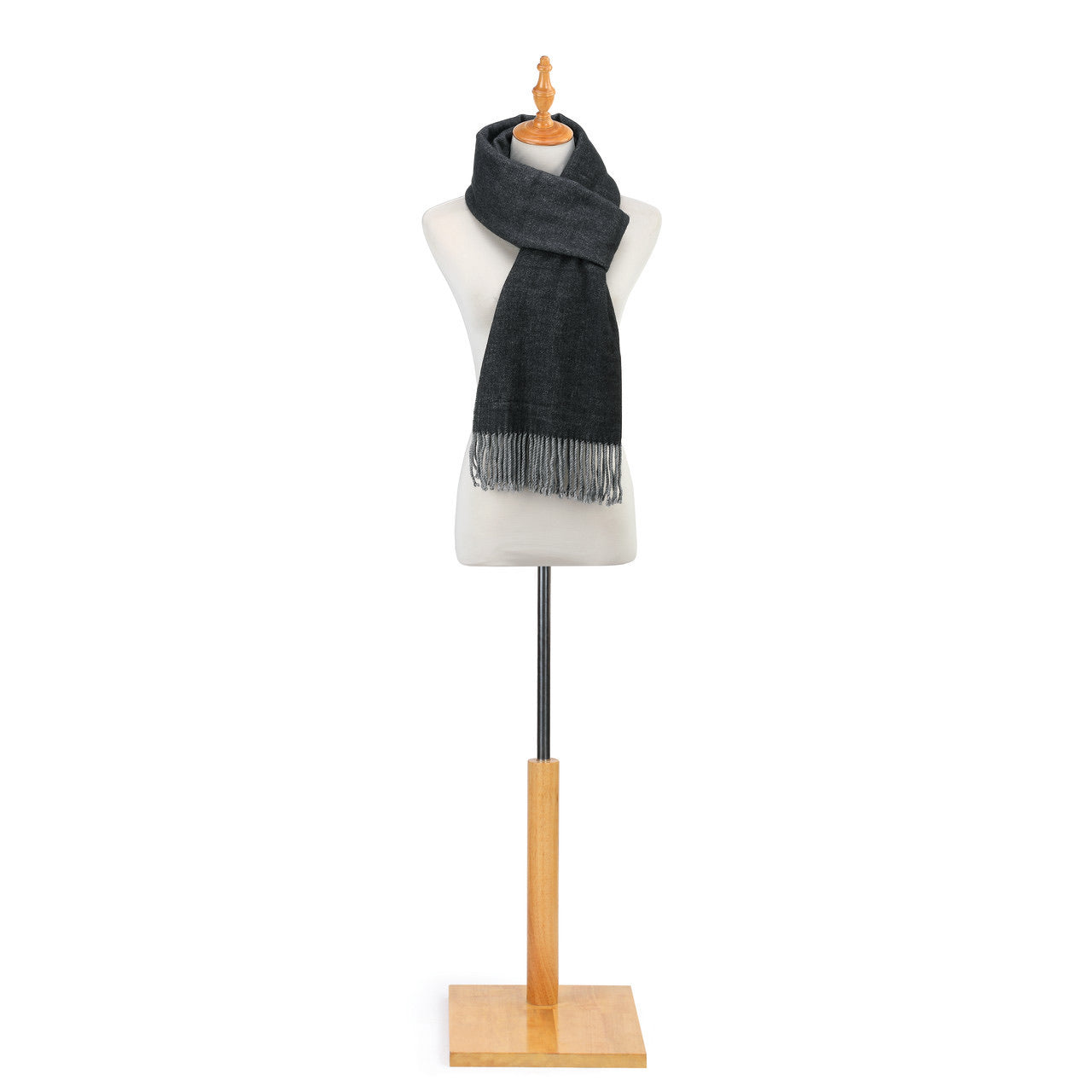 Soft Brushed Scarf- Gray and Charcoal