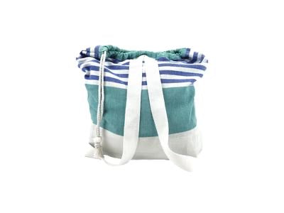 Teal 2-IN-1 COTTON BAG AND BLANKET