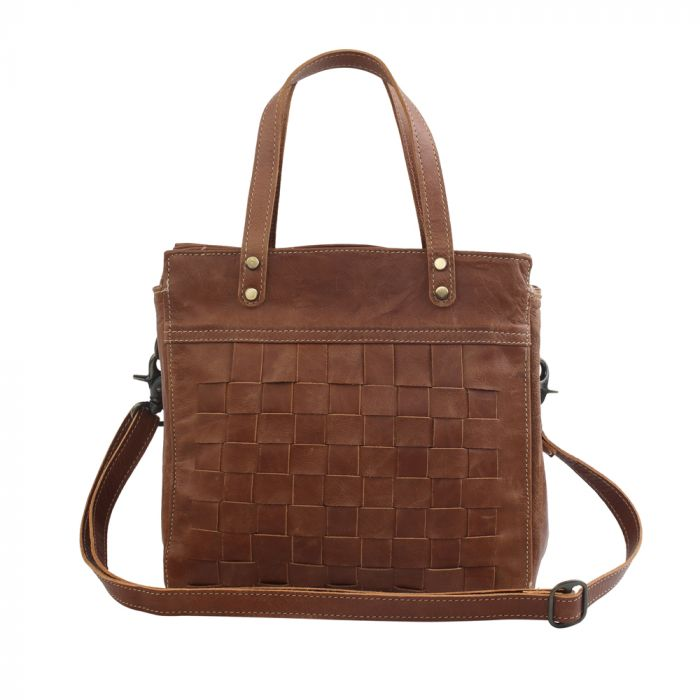 Square One Leather And Hairon Bag