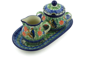 Aviary Oasis Sugar and Creamer Set