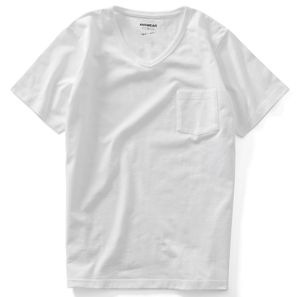 ANSWEAR V neck Classic Pocket Tee