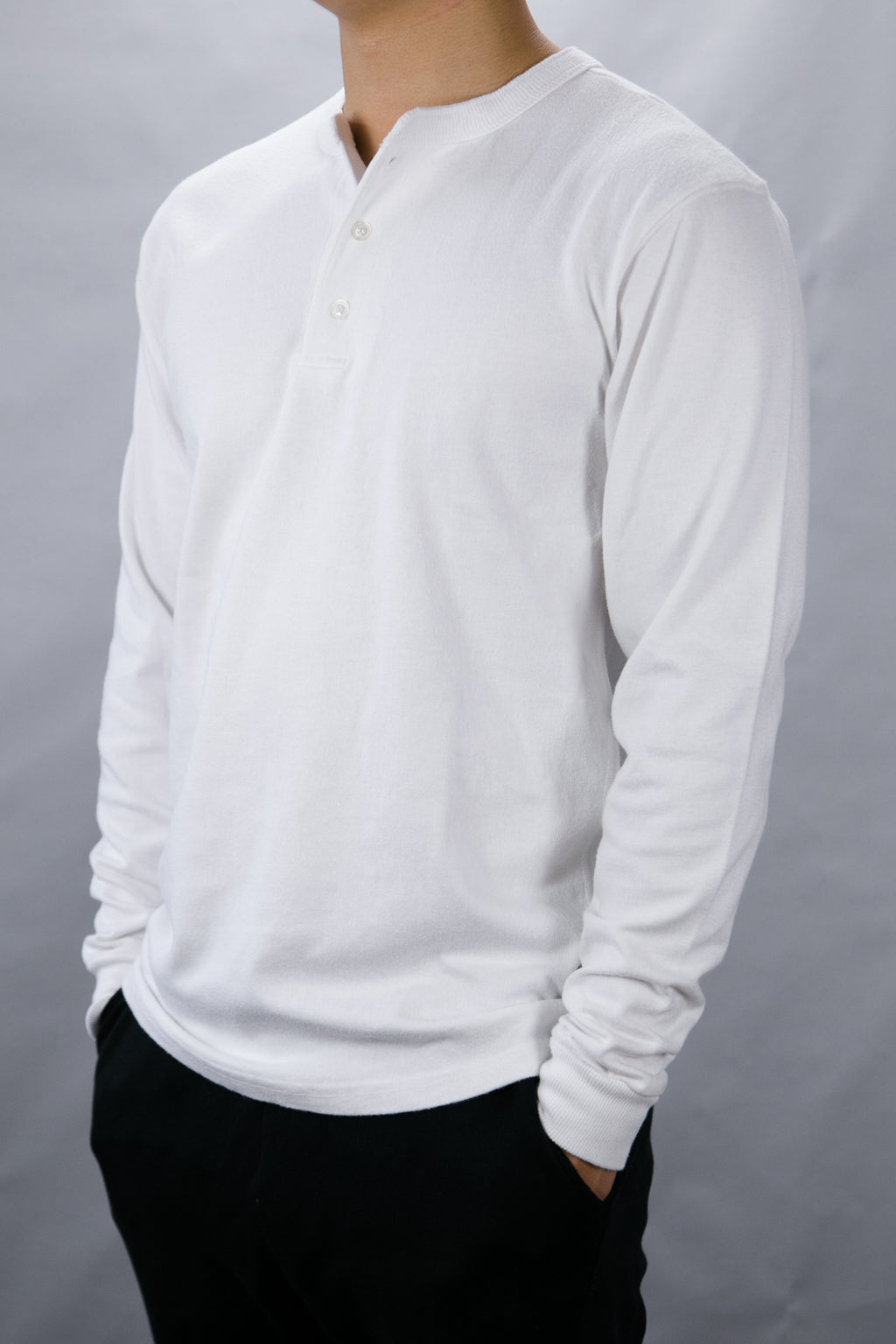 Goodwear 9oz Brushed Jersey Henley Neck L/S