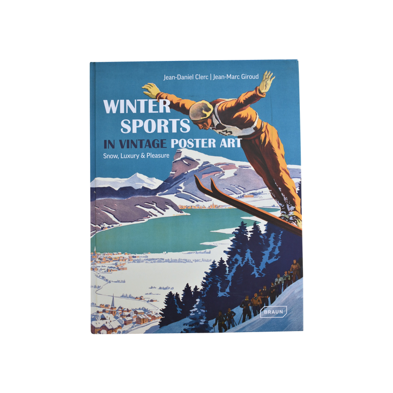 Winter Sports in Vintage Poster Art Book