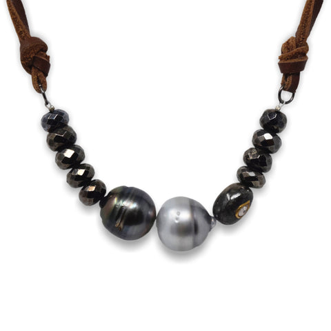 Susana Gunmetal Necklace