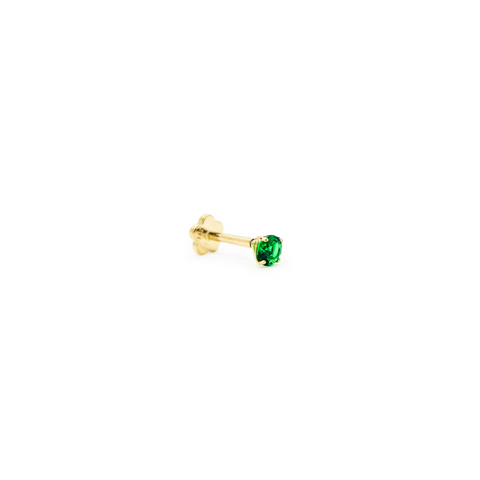 Emerald CZ 2M Threaded Stud