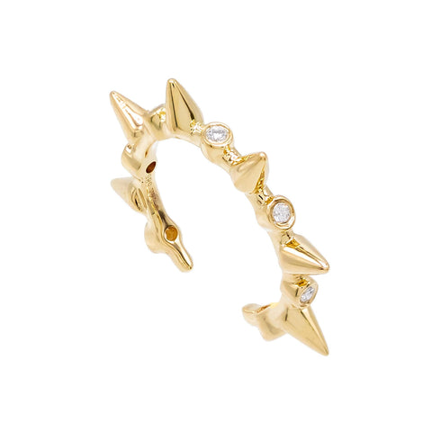 Diamond Spike Earcuff