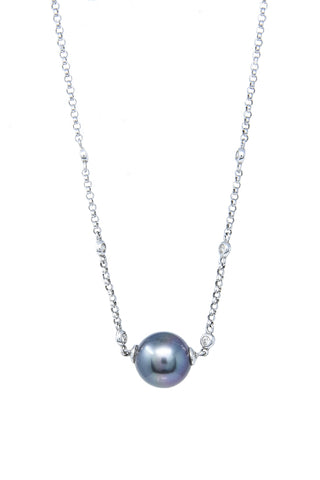 White Gold Chain and Pearl Necklace