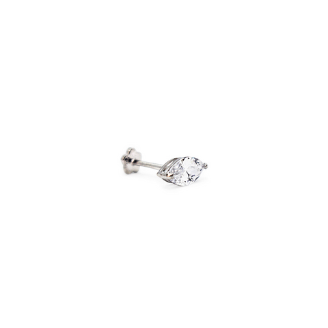 Marquise Threaded Stud