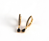 Black Drop Hoops