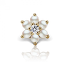 7mm Pearl and Diamond Flower Earstud