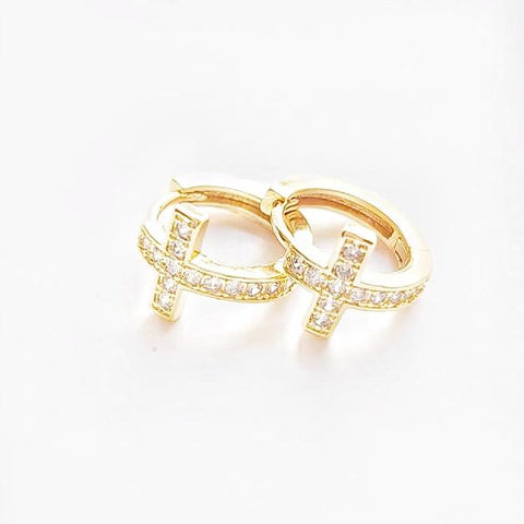 Cross Zirconia Hoops