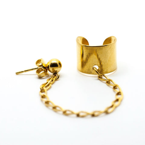 BALL & CHAIN EAR CUFF