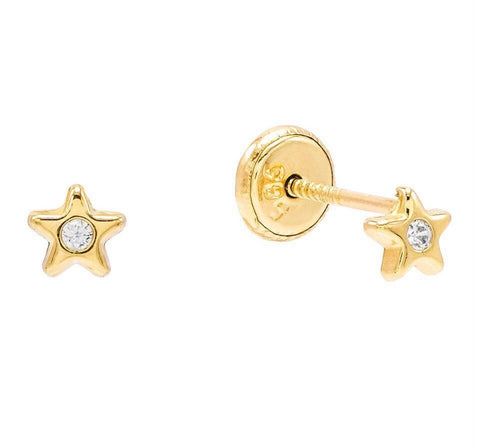 Tiny Star Stud 14K