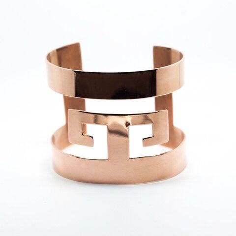 GRECA DOUBLE Rose gold plated