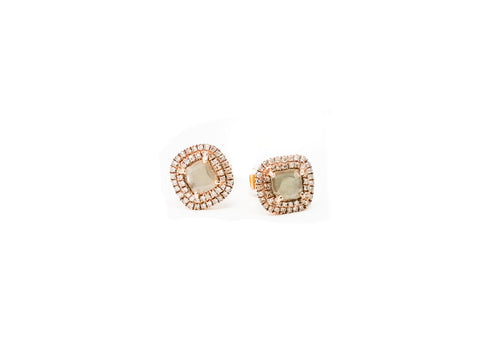 SQUARE EARRINGS OF LAJA AND DIAMONDS