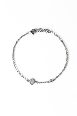 BRAILLE BRACELET White Gold 14K