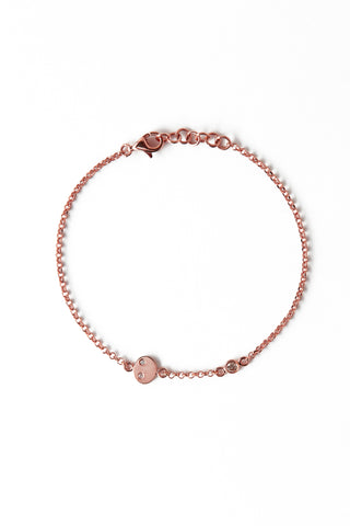 BRAILLE BRACELET Rose Gold 14K
