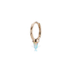 8mm Opal Single Spike Non-Rotating Ring