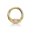 14g 8mm Opal Titanium Horizontal Princess Clicker