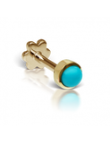 4mm Turquoise Threaded Stud