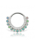 9.5 Opal and Cubic Zirconia Apsara Clicker
