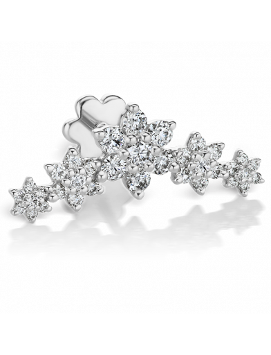 Diamond 5 Flower Garland Threaded Stud