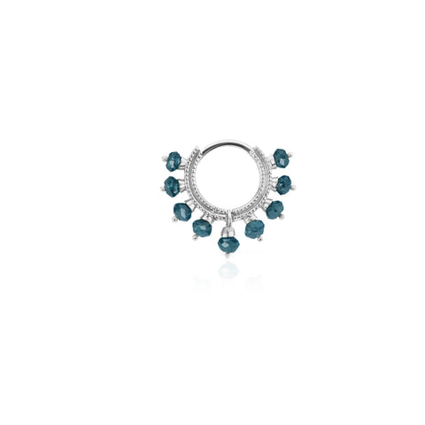 6.5mm Blue Diamond Coronet Ring