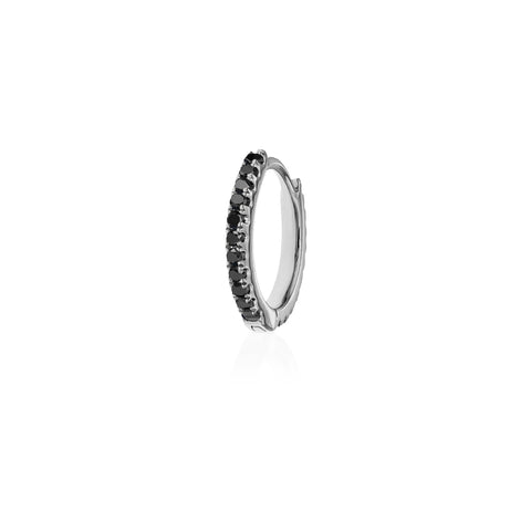 8mm Black Diamond Eternity Ring