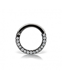 16g 8mm Cubic Zirconia Titanium Horizontal Eternity Clicker