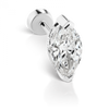 7mm Marquise Diamond Threaded Stud