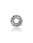 Diamond Micropave Open Circle Threaded Stud