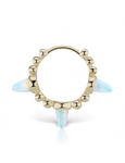 8mm Triple Short Opal Spike Granulated Clicker