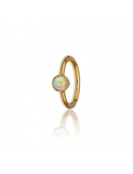 6.5mm Scalloped Set Opal Ring