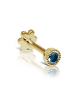 2mm Blue Diamond Scalloped Set Threaded Stud