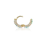 6.5mm Opal and Diamond Pave Ring (Bottom Hinge)