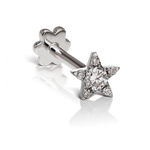 4.5mm Diamond Star Threaded Stud