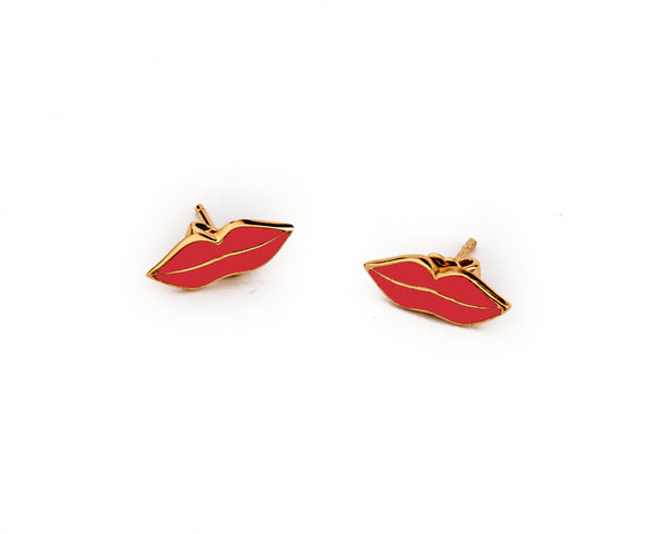 Red Kiss Earrings