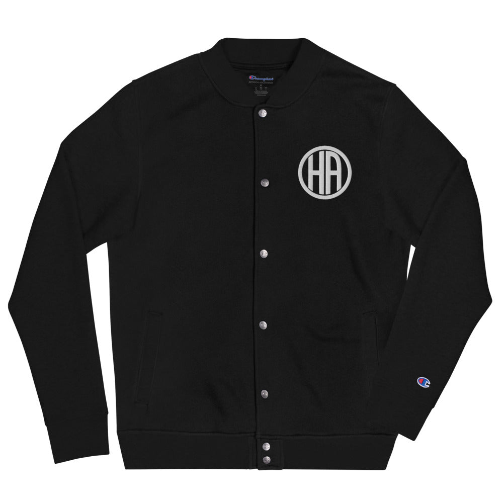 HA Logo Embroidered Champion Bomber Jacket