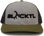BLACKTL Hat 3D Stitch Heather Grey / Black / Green