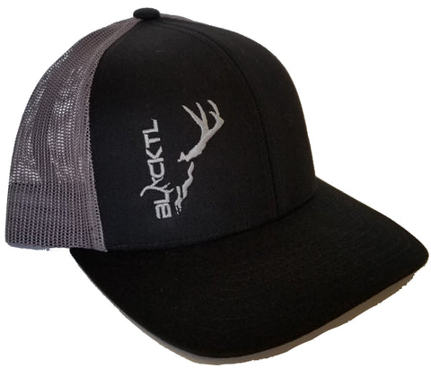 BlackTL Deadhead Hat Silver on Black / Grey