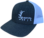 Royal Six Hat White on Black / White