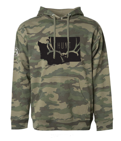 HUNT WASHINGTON Hoodie Camo